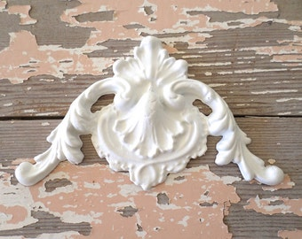 Shabby Chic Architectural FURNITURE APPLIQUES Carved Corner FLEXIBLE 5.95  No Limit Shipping