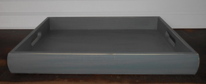 plateau de table basse plateau en bois peint gris plateau