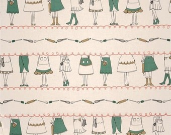 ON SALE Green Apron Stripe from KITSCHenette by Claudine Hellmuth for Andover