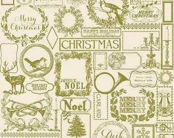CLEARANCE Christmas in Green from Lost and Found by My Mind's Eye for Riley Blake Designs