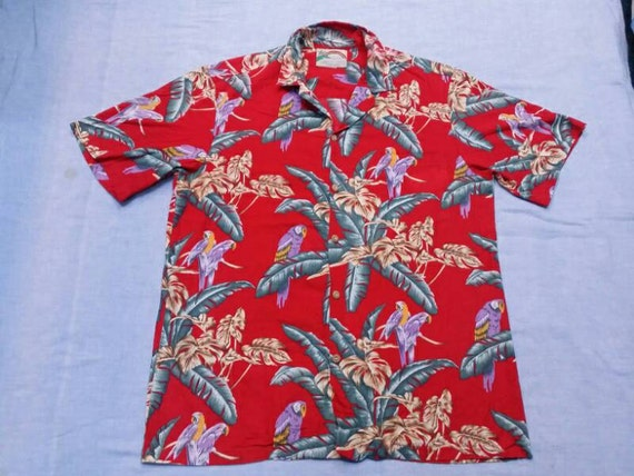 vintage 90s paradise found magnum pi hawaiian by cheamevintage