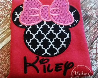 Girl Mouse Custom embroidered Disney Inspired Vacation Shirts for the Family! 946
