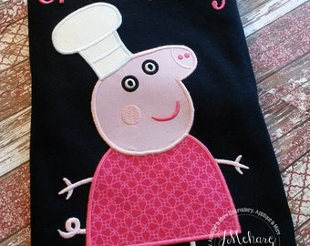 Peppa Pig Family Baker Granny Pig Birthday Custom Tee Shirt - Customizable -   Adults 240