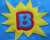Superhero Cape with Starburst Initial - Kids Superhero Cape Set with Mask- Kids Costume - Felt - Dress Up