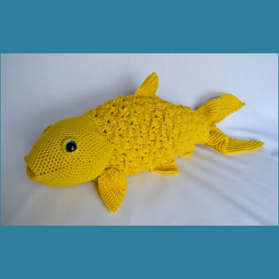 Large koi crochet pattern realistic fish stuffed animal for Fish stuffed animal