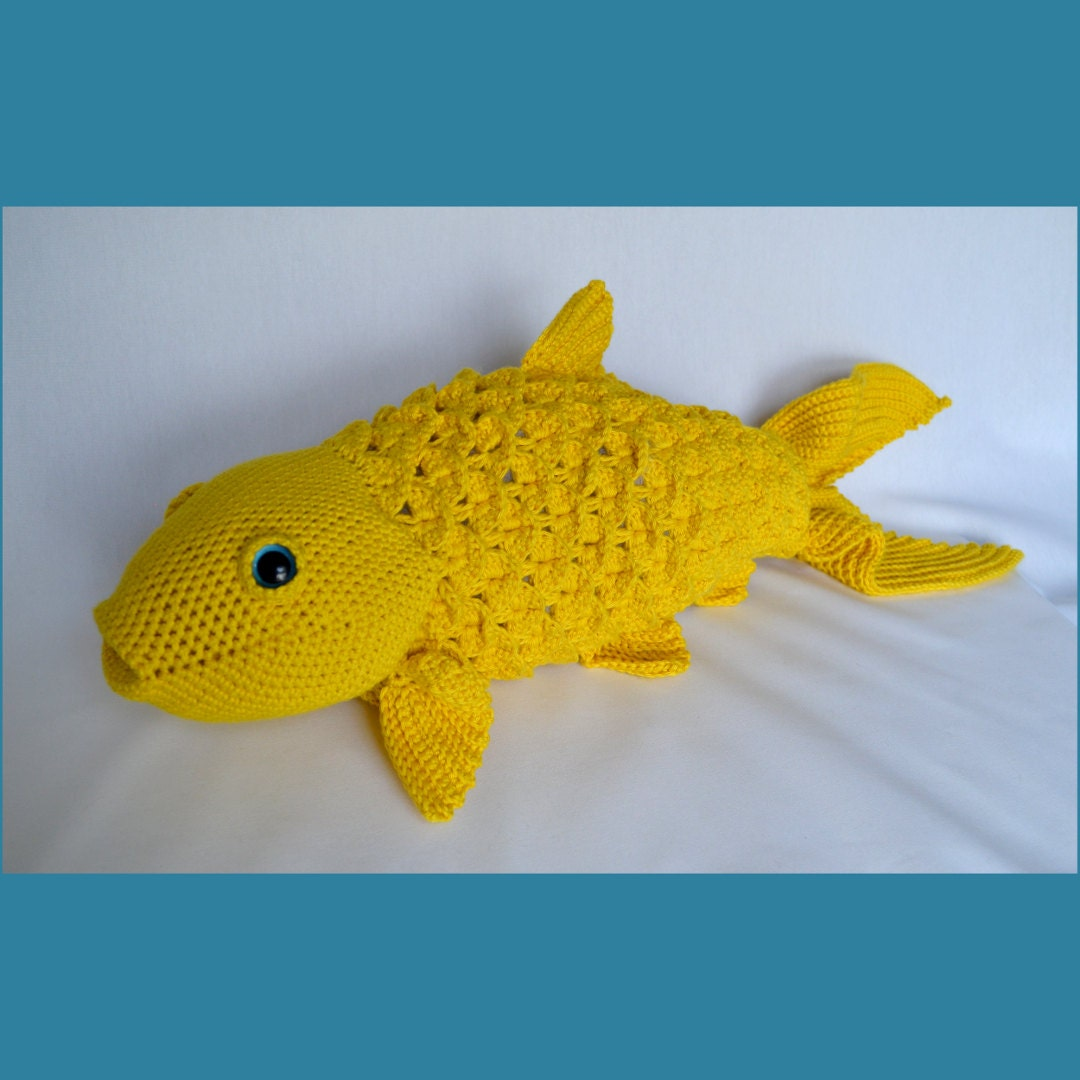 Large koi crochet pattern realistic fish stuffed animal for Large koi fish