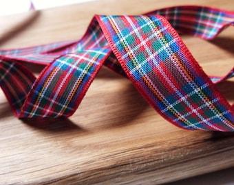 Royal Stewart Scottish Tartan Ribbon 16mm Berisfords - 1