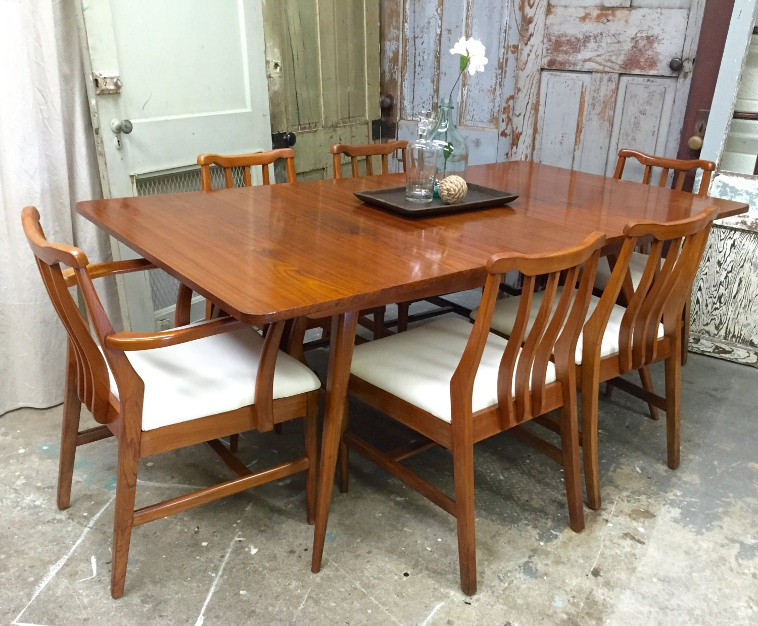 mid century modern dining set retro home decor vintage mid