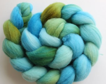 Superfine Merino Top Roving 19.5 microns Hand dyed 100g