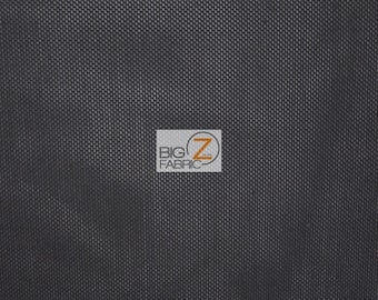 "Solid Heavy Power Mesh Polyester Spandex Fabric - BLACK - 48"" Width Sold By The Yard"