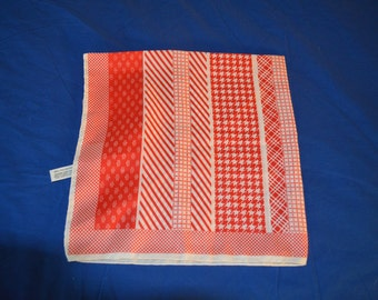 ON SALE   Vintage Red and White Scarf by Glentex
