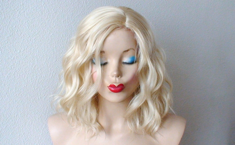 Blonde Wig Short Beach Wavy Hairstyle Wig Short By Kekeshop
