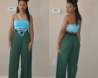 Turquoise Bandeau Top w/ Multi Braids