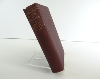 1856 Macaulay's History of England Vol IV Hardcover Book - Boston Edition