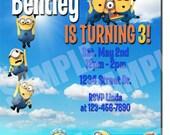 Minions birthday Invitation - Printable Minions birthday Invitation