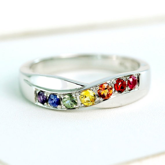 rainbow ring lgbt pride miniature - photo #20