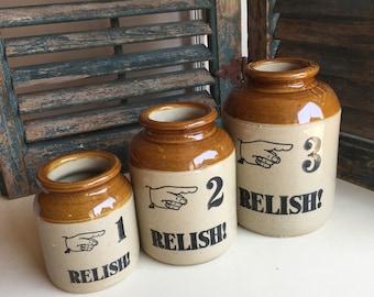 Moira Pottery Stoneware Crock Set
