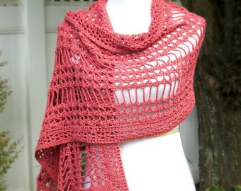 Crochet Pattern for Shawl, Wrap in X Stitch, PDF 15-193 INSTANT DOWNLOAD