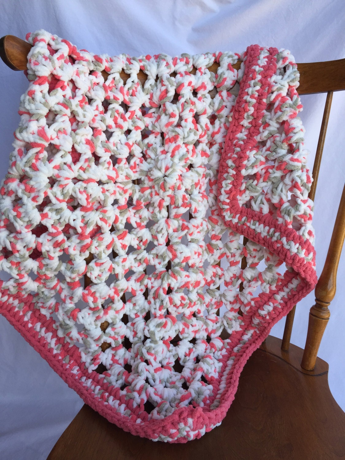 Bernat Baby Blanket Yarn Knitting Patterns : Softest Baby Crochet Blanket Afghan Bernat Baby Yarn