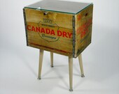 SECOND Authentic 60's Canada Dry Crate End Table by Eddie Villegas