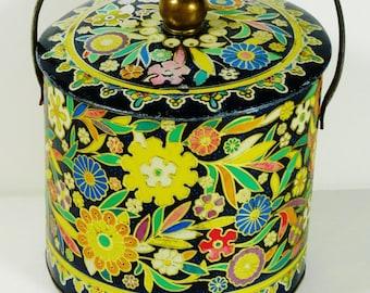 VIntage Floral Tin - England