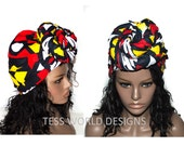 Traditional Hitarget Fabric African head wrap / African hair wrap/ African headwrap/ African hair accessory fabric/ African Head scarf/ HT62