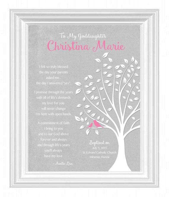 GODDAUGHTER gift personalized - Custom Gift for Goddaughter on ...