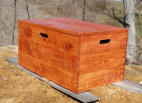 Items Similar To Wooden Crate Coffee Table Toy Chest Large Storage Box Gunstock On Etsy