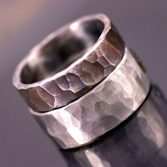 Steel Wedding Ring Custom Mens ring Womens ringUnique band