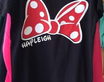 Personalized Minnie Bow Shirt