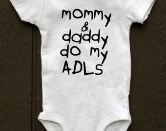 ADLs Occupational Therapy baby bodysuit child's handwriting