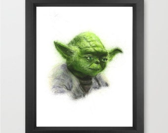 Yoda INSTANT DOWNLOAD, Star Wars fan, the force, Star Wars decor, childrens room, theater room decor - digital download