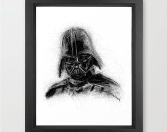 Darth Vader INSTANT DOWNLOAD, Star Wars, fathers day, darkside, theater room decor - Original trilogy download