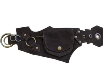 Leather Pocket Belt - Pixy