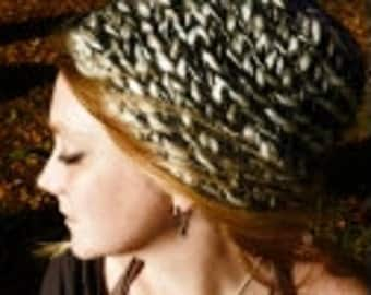 Finger-knitted Hats - 4 cool forest colours