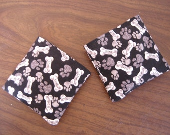 Bones and Paws print Hand Warmer Corn Cozies
