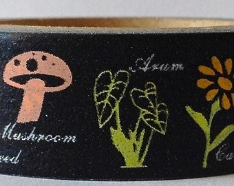 "SALE Washi Tape ""Floral and Fauna""  15mm x 10 Meters"