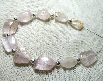 Chunky 10 Pc Stunning Kunzite Tumble shape  Beads Afghanistan K12