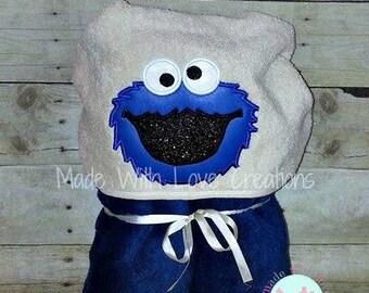 Sesame Street Hooded Towels-Elmo Hooded Towel-Cookie Monster Hooded Towel-Oscar Hooded Towel-Bert Hooded Towel-Big Bird Hooded Towel