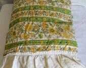 Boho Bedspread Twin Size Bedspread Yellow Bedpsread Gold Bedspread Green Bedspread Bed Spread Boho Bed Cover Boho Bedroom Twin Size Bedding
