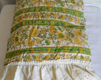 Boho Bedspread Twin Size Bedspread Yellow Bedpsread Gold Bedspread Green Bedspread Bed Spread Boho Bed Cover Boho Bedroom Twin Size Bedding