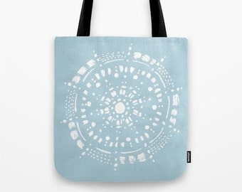Pastel Blue and White Tote Bag, blue tote bag, light blue bag, pastel blue bag, blue and white bag, light blue tote, pale blue bag, tote bag