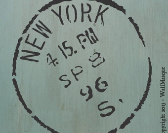 New York Stamp Stencil (12 inch version)