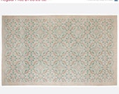 ON SALE 6 x 9,8 FT___184 x 298 Cm           Vintage Beige Ivory Cream  handmade faded-distressed overdyed rug Free shipping (5559)