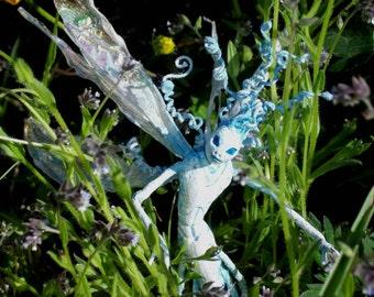 "Winter Wood Sprite Fairy ""Chrys"" - Hand Sculpted Figurine - OOAK - BEAUTIFUL!!"