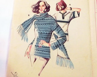 "1970s Pullover Knit Top Sweater Shirt sewing pattern Kwik Sew 621  Size XS S M L Xl Bust 31.5 32.5 34 35.5 37 38 40 41.5 43 45"" Uncut"