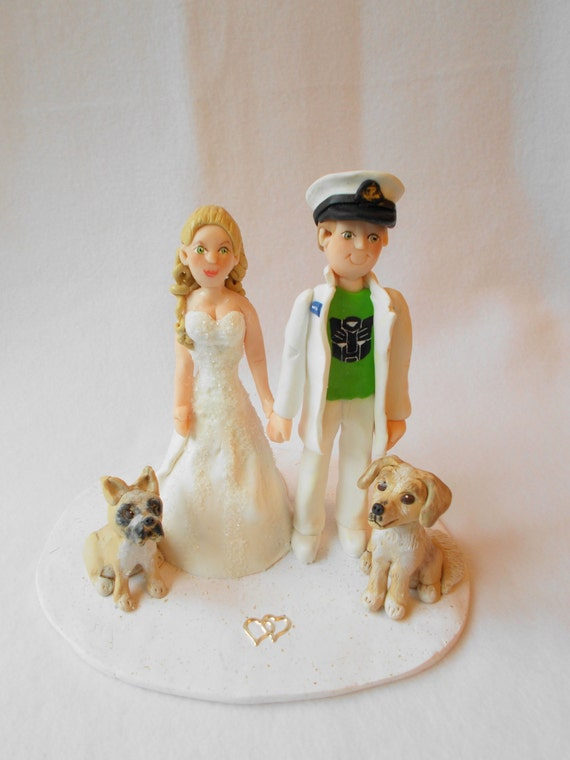 clay wedding cake toppers custom wedding cake topper polymer clay wedding cake topper 12879