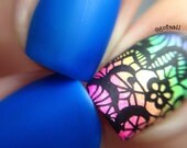 Brilliant - 5 Free MATTE Neon Blue Nail Polish - Glow-in-the-Dark - Vegan - You Are collection