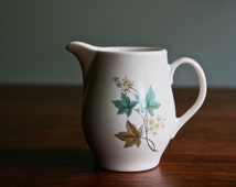 Vintage Mid Century Modern creamer by Syracuse in Woodbine pattern made in USA