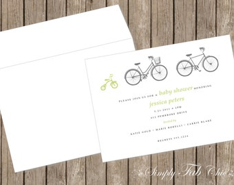 Baby Shower Invitation Simple Bicicle Tricyle Babyshower Invitations